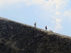 Caminando sobre la pared del volcán Paricutín