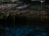 Imagen borrosa de cenote Dos Ojos