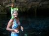 Eli lista para snorkelear