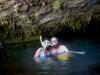Ale y Eli snorkeleando