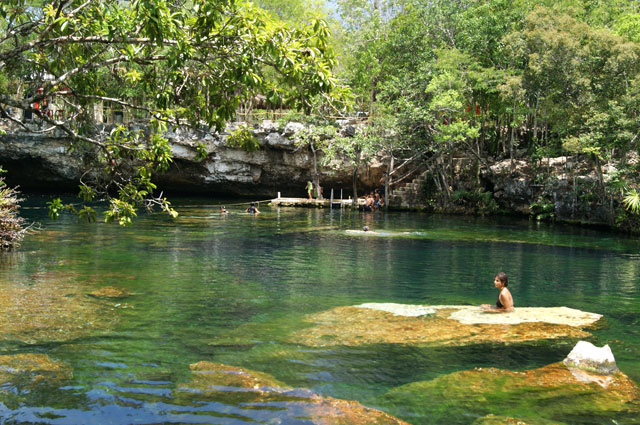 Viajerosustentable blog archive cenote jard n del ed n for Jardin xel ha