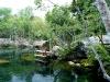 El cenote desde arriba
