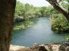 El cenote desde las hamacas