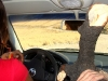 Transportando la leña en el coche