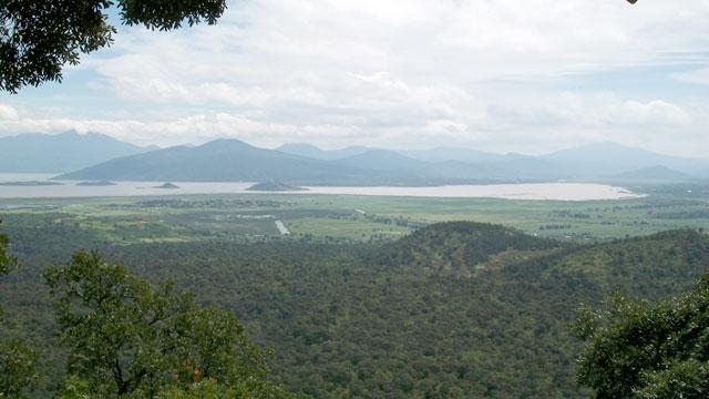 Vista del lago desde el volcán