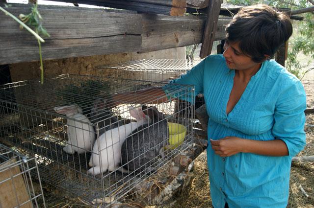 18B. Eli da de comer a los conejos