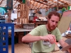 Haciendo cuardernos de papel reciclado