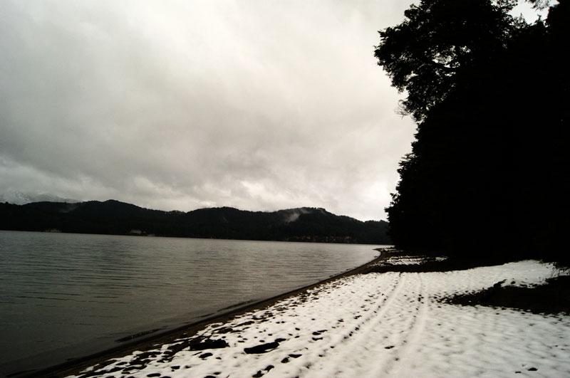 Playa nevada en Bahia Manzano