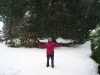 Eli disfrutando la nieve