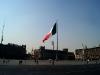 La bandera flameando en el Zocalo